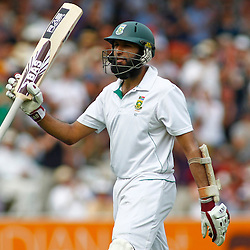 19/08/2012 London, England. South Africa's Hashim Amla walks off after being dismissed during the third Investec cricket international test match between England and South Africa, played at the Lords Cricket Ground: Mandatory credit: Mitchell Gunn