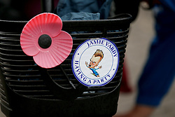 A general view of a Jamie Vardy Sticker on display before the Premier League match at the King Power Stadium, Leicester.