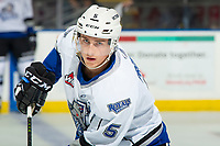 KELOWNA, BC - NOVEMBER 6: Mitch Prowse #5 of the Victoria Royals warms up against the Kelowna Rockets at Prospera Place on November 6, 2019 in Kelowna, Canada. (Photo by Marissa Baecker/Shoot the Breeze)
