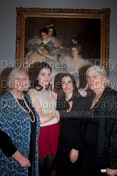 TESSA MURDOCH; SIENNA MURDOCH; SOPHIE MEYER; CAROLYN SANDS, ; Mrs. Carl Meyer and her Children. John Singer Sargent Migrations private view, Tate Britain. London. 30 January 2012.