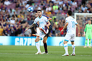 Sergio Busquets of FC Barcelona duels for the ball with Gaston Pereiro of PSV Eindhoven during the UEFA Champions League, Group B football match between FC Barcelona and PSV Eindhoven on September 18, 2018 at Camp Nou stadium in Barcelona, Spain - Photo Manuel Blondeau / AOP Press / ProSportsImages / DPPI