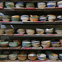 As soon as all the shevels fill up with completed bowls they are bxed and transporated to storage before they are used at the Empty Bowl Luncheon.