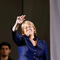 Santiago , Chile 16 January 2006 <br /> Socialist Michelle Bachelet won the presidential election on Sunday, becoming the Chile's first woman leader while further consolidating Latin America's move to the left.<br /> Bachelet, a paediatrician and former political prisoner, handily beat her conservative challenger, multimillionaire businessman Sebastian Pinera.<br /> Photo: Ezequiel Scagnetti