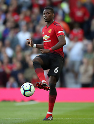 Manchester United's Paul Pogba during the Premier League match at Old Trafford, Manchester