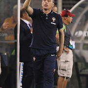 Paul Bento, Manager of Portugal, on the sideline during the Portugal V Ireland International Friendly match in preparation for the 2014 FIFA World Cup in Brazil. MetLife Stadium, Rutherford, New Jersey, USA. 10th June 2014. Photo Tim Clayton