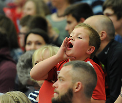 Bristol Flyers fan - Photo mandatory by-line: Dougie Allward/JMP - Mobile: 07966 386802 - 18/04/2015 - SPORT - Basketball - Bristol - SGS Wise Campus - Bristol Flyers v Leeds Force - British Basketball League