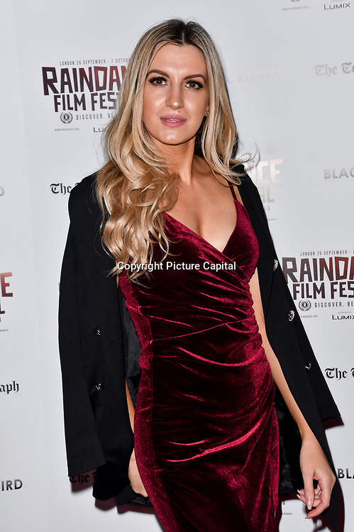 Victoria Brown attend Blackbird - World Premiere with Michael Flatley at May Fair Hotel, London, UK. 28th September 2018.