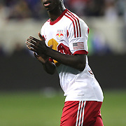 Bradley Wright-Phillips, New York Red Bulls, in action during the New York Red Bulls Vs Portland Timbers, Major League Soccer regular season match at Red Bull Arena, Harrison, New Jersey. USA. 24th May 2014. Photo Tim Clayton