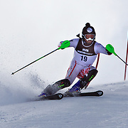 Rainer Schoenfelder, Austria, in action during the Men's Slalom event during the Winter Games at Cardrona, Wanaka, New Zealand, 24th August 2011. Photo Tim Clayton...