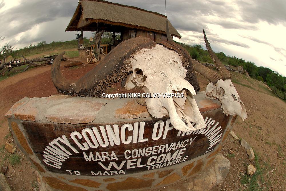 Masai Mara National Park sign