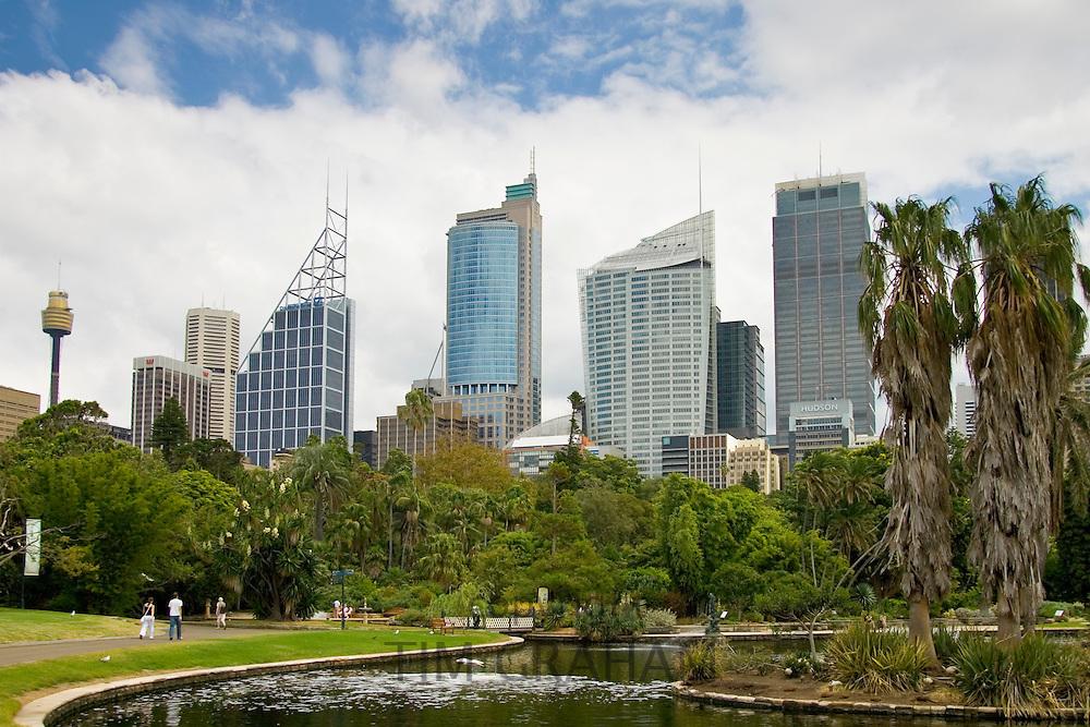 View of the Sydney skyline from the Royal Botanical Gardens, Australia