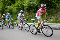 Fabio Aru / Alberto Contador - Tinkoff Saxo - 24.05.2015 - Tour d'Italie - Etape 15 - Marostica / Madonna di Campiglio<br />Photo : Pool / Sirotti / Icon Sport