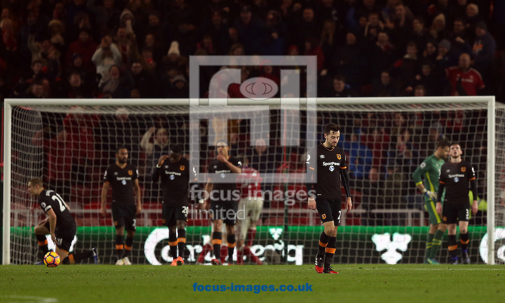 Gaston Ramirez of Middlesbrough puts his side 1-0 up during the Premier League match at the Riverside Stadium, Middlesbrough<br /> Picture by Christopher Booth/Focus Images Ltd 07711958291<br /> 05/12/2016