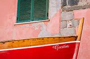 Fishing boat, Vernazza, Cinque Terre, Liguria, Italy