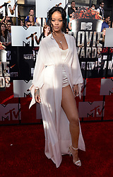 Rihanna arriving at The MTV Movie Awards 2014, the Nokia Theatre L.A. Live, Los Angeles. The MTV Movie Awards can be seen in the UK on MTV, Monday 14th April at 9pm