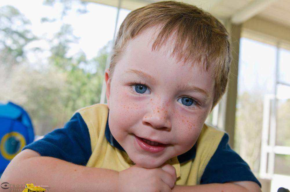 Portrait off a boy age 3