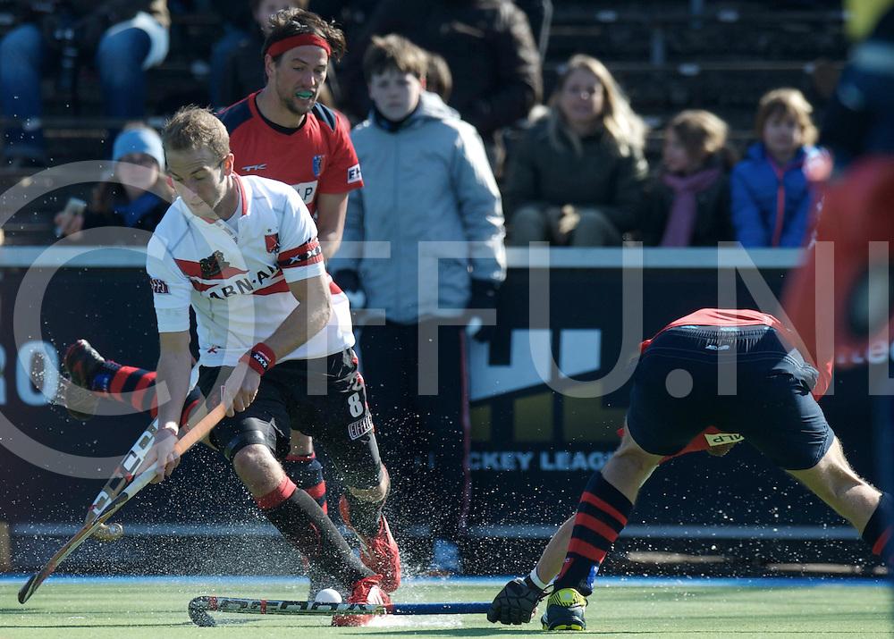 Amstelveen - Euro Hockey league KO16.Amsterdamse H&BC - Berliner HC.foto: Billy Bakker (white).FFU PRESS AGENCY COPYRIGHT FRANK UIJLENBROEK.