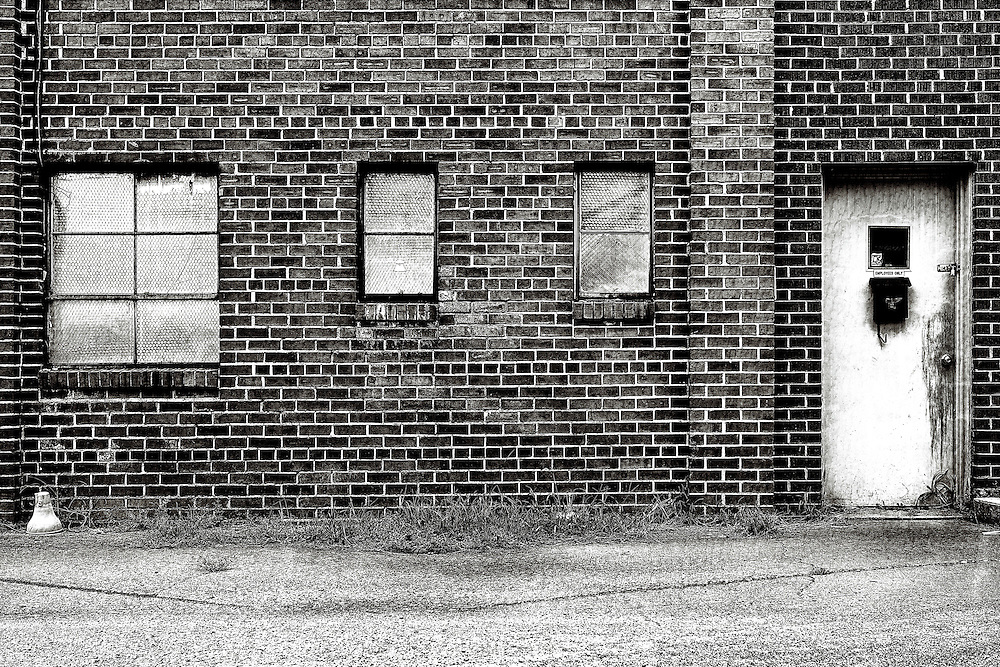 The side of an abandoned building in downtown Charlotte, North Carolina.