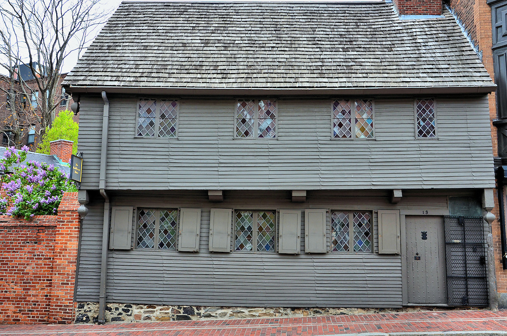 Paul Revere House in Boston, Massachusetts  <br />
