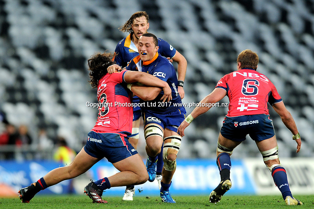 Sione Teu of Otago. Otago v Tasman. Mitre 10 Cup Championship Rugby Union. Forsyth Barr Stadium, Dunedin, New Zealand. 16 September 2017. Copyright Image: Joe Allison / www.photosport.nz