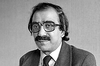 Dr Kader Asmal, Irish Anti-Apartheid Movement, Rep of Ireland, 198101240001b.<br /><br />Copyright Image from Victor Patterson, Belfast, UK<br /><br />t: +44 28 9066 1296 (from Rep of Ireland 048 9066 1296)<br />m: +44 7802 353836<br /><br />victorpattersonbelfast@gmail.com<br />www.victorpatterson.com<br /><br />Please see my Terms and Conditions of Use at https://www.victorpatterson.com/page2<br />It is IMPORTANT that you familiarise yourself with them.<br /><br />Images used online incur an additional cost and must be visibly watermarked i.e. © Victor Patterson within the body of the image and copyright metadata must not be deleted. Images used on the Internet have a size restriction of 4kbs and are chargeable at rates available at victorpatterson.com.<br /><br />This image is only available for the use of the download recipient i.e. television station, newspaper, magazine, book publisher, etc, and must not be passed on to any third party. It is also downloaded on condition that each and every subsequent usage is notified within 7 days to victorpattersonbelfast@gmail.com<br /><br />The right of Victor Patterson to be identified as the author is asserted in accordance with The Copyright Designs And Patents Act (1988). All moral rights are asserted.