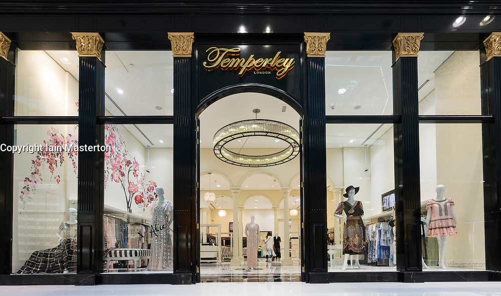 Temperley fashion  shop in Dubai Mall Dubai United Arab Emirates