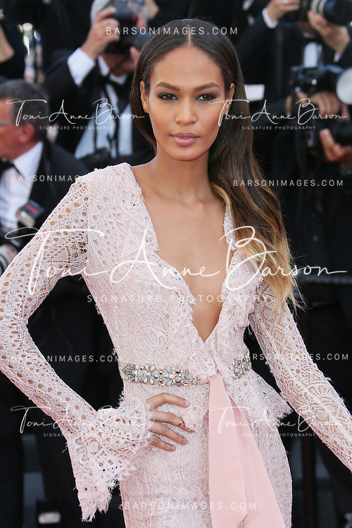 CANNES, FRANCE - MAY 21:  Joan Smalls attends 'Behind The Candelabra' Premiere during The 66th Annual Cannes Film Festival on May 21, 2013 in Cannes, France.  (Photo by Tony Barson/FilmMagic)