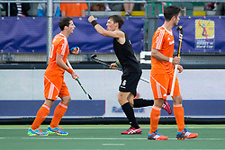 THE HAGUE - Rabobank Hockey World Cup 2014 - 2014-06-10 - MEN - NEW ZEALAND - THE NETHERLANDS -  Simon Child scoort de 1-1.<br /> Copyright: Willem Vernes