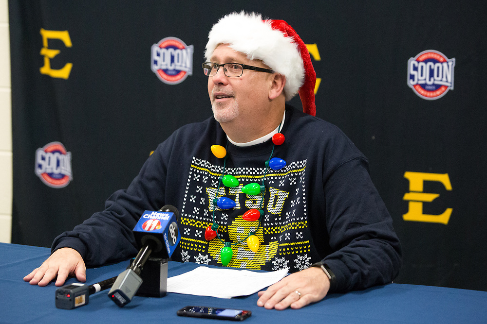 December 22, 2017 - Johnson City, Tennessee - Freedom Hall: ETSU head coach Steve Forbes<br /> <br /> Image Credit: Dakota Hamilton/ETSU