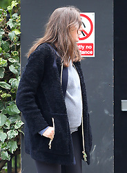 (EXCLUSIVE PICTURES £150 MINIMUM FEE PER PICTURE) Celebrity chef Jamie Oliver's wife Jools Oliver who is 6 months pregnant with their fifth child, checks on the work in progress on their new £10 million house in London. Jools was accompanied by her mother and jool's eldest daughter Poppy Honey Rosie. London, UK. 27/04/2016<br />BYLINE MUST READ : JAMESY/GOTCHA IMAGES<br /><br />Copyright by © Gotcha Images Ltd. All rights reserved.<br />Usage of this image is conditional upon the acceptance <br />of Gotcha Images Ltd, terms and conditions available at<br />www.gotchaimages.com