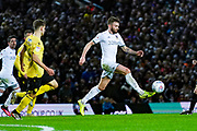 Leeds United defender Stuart Dallas (15) during the EFL Sky Bet Championship match between Leeds United and Millwall at Elland Road, Leeds, England on 28 January 2020.