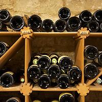 Wine cellar at the Relais & Chateaux La Cote Saint-Jacques in Joigny.