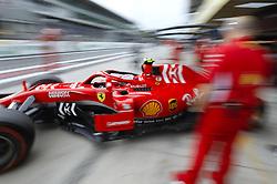 "November 9, 2018 - SãO Paulo, Brazil - SÃO PAULO, SP - 09.11.2018: GRANDE PRÊMIO DO BRASIL DE FÃ""RMULA 1 2018 - Kimi Räikkönen (RAIKKONEN), FIN, Team Scuderia Ferrari, during the second free practice for the 2018 Brazilian Grand Prix, held at the Interlagos Autodrome in São Paulo, SP. (Credit Image: © Rodolfo Buhrer/Fotoarena via ZUMA Press)"