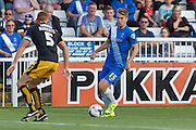 Rhys Oates (Hartlepool United) during the Sky Bet League 2 match between Hartlepool United and Cambridge United at Victoria Park, Hartlepool, England on 19 September 2015. Photo by George Ledger.