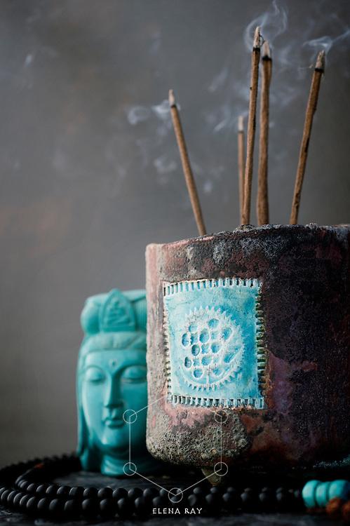 Mindful elements in a meditative setting.