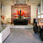 At tank and jeep on display at the Vietnam Military History Museum. The museum was opened on July 17, 1956, two years after the victory over the French at Dien Bien Phu. It is also known as the Army Museum (the Vietnamese had little in the way of naval or air forces at the time) and is located in central Hanoi in the Ba Dinh District near the Lenin Monument in Lenin Park and not far from the Ho Chi Minh Mausoleum.