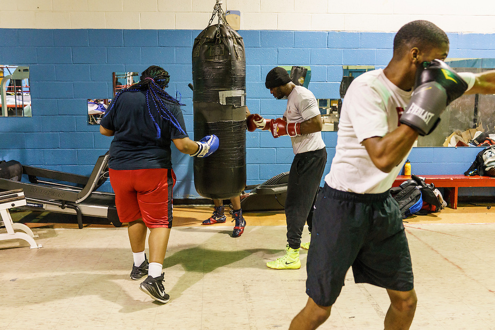 Baltimore, Maryland - January 26, 2017: Boxers train at the Upton Boxing Club in Baltimore Thursday January 26, 2017.<br /> <br /> <br /> CREDIT: Matt Roth for The New York Times<br /> Assignment ID:
