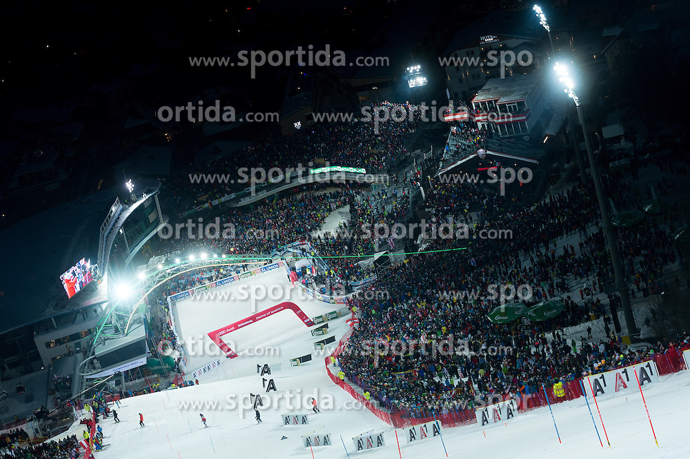Finish area during the 7th Mens' Slalom of Audi FIS Ski World Cup 2016/17, on January 24, 2017 at the Planai in Schladming, Austria. Photo by Martin Metelko / Sportida