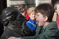 FEB 07 2014 The UK's first statue of Charles Dickens unveiled