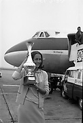 """Winner of the """"The Ideal Woman of 1966 of Europe"""" winner, Grace O'Shaughnessy, returns from an assignment in Italy. .30.08.1966"""
