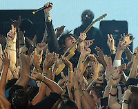 New York, NY-September 13, 2009: Billie Joe Armstrong of Green Dayperforms during the MTV Video Music Awards at Radio City Music Hall on September 13, 2009 in New York City (Photo by Jeff Snyder/PictureGroup)