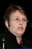 Hilary Bills, Executive, speaking at the NUT Conference 2004..© Martin Jenkinson, tel/fax 0114 258 6808 mobile 07831 189363 email martin@pressphotos.co.uk. Copyright Designs & Patents Act 1988, moral rights asserted credit required. No part of this photo to be stored, reproduced, manipulated or transmitted to third parties by any means without prior written permission