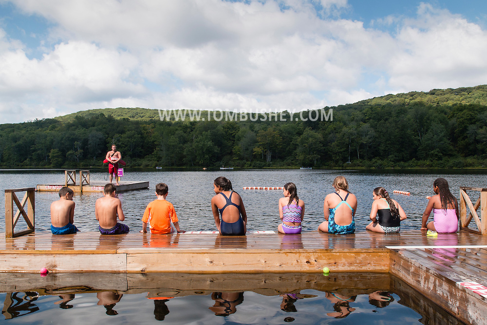 Woodbury, New York - Activities at the YMCA's Camp Discovery at Harriman State Park on Aug. 12, 2015.