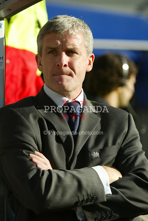 OSLO, NORWAY - Thursday, May 27, 2004:  Wales' manager Mark Hughes during the International Friendly match at the Ullevaal Stadium, Oslo, Norway. (Photo by David Rawcliffe/Propaganda)