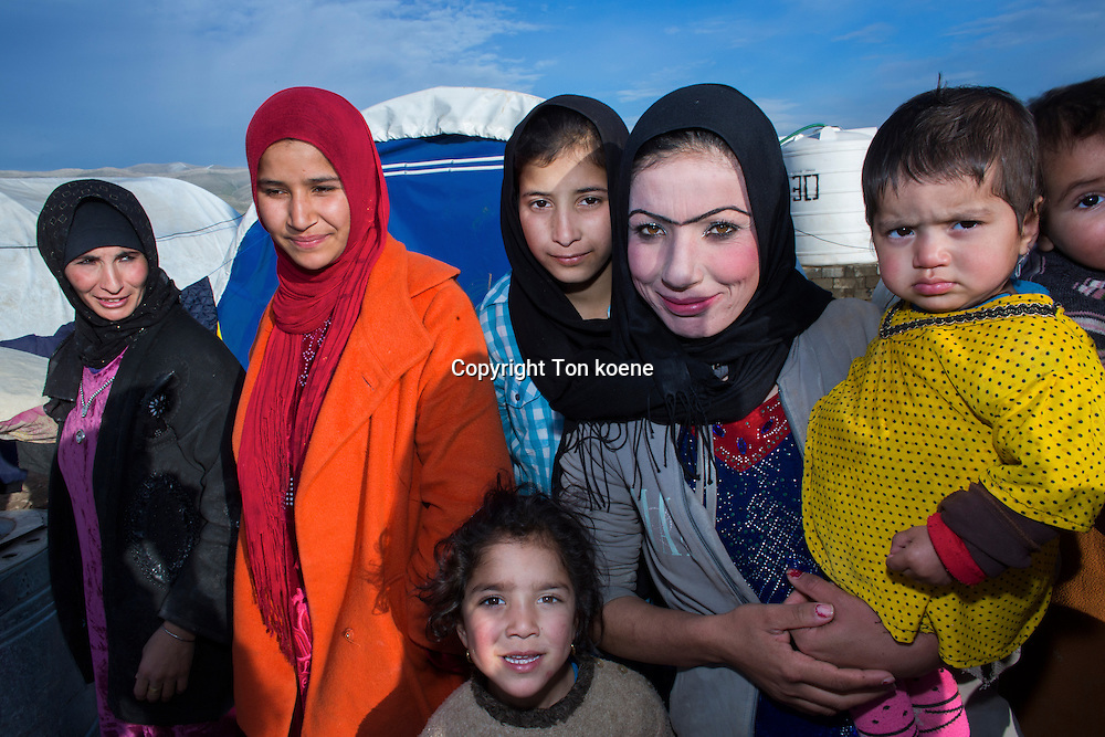 Displaced people in a refugee camp in Northern Iraq