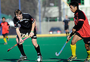 Cam Hayde of New Zealand in Action, Junior Black Sticks Men vs Malaysia Juniors international Under 21 Hockey, 7 June 2011, Alexander McMillan Hockey Centre Dunedin, New Zealand. Photo: Richard Hood/photosport.co.nz
