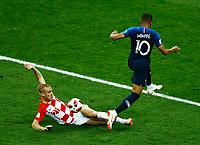 Domagoj Vida (Croatia) and Antoine Griezmann (France)<br /> Moscow 15-07-2018 Football FIFA World Cup Russia  2018 Final / Finale <br /> France - Croatia / Francia - Croazia <br /> Foto Matteo Ciambelli/Insidefoto