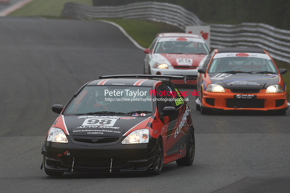 #98 Michael HAMLETT Honda Civic Type R during Nippon Challenge / Youririshhop.com MR2 Racing Series - Qualifying  as part of the BARC Championships Race Day at Oulton Park, Little Budworth, Cheshire, United Kingdom. October 03 2015. World Copyright Taylor/PSP. Copy of publication required for printed pictures.  Every used picture is fee-liable. http://archive.petertaylor-photographic.co.uk