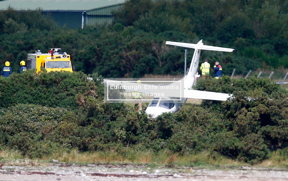 A light aircraft has come off the runway at Oban Airport in North Connel.<br /> There are no reported casualties.<br /> Emergency services are in attendance and roads remain open.<br /> A Police Scotland spokesperson said: 'We received a call about an aircraft crash at around 2pm on July 13. There are no injuries........ (c) Stephen Lawson | Edinburgh Elite media