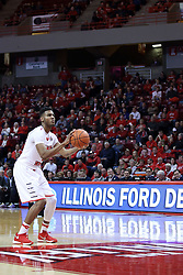 20 January 2017:  DJ Clayton(2) during an NCAA Missouri Valley Conference mens basketball game Where the Purple Aces of Evansville lost to the Illinois State Redbirds 75-73 in Redbird Arena, Normal IL